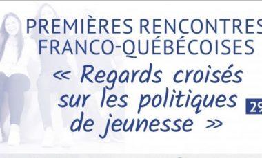 Martin Goyette, titulaire de la CREVAJ, participe aux «Regards croisés sur les politiques de jeunesse», rencontres franco-québécoises sur les politiques de jeunesse le 29-30 novembre à Paris.