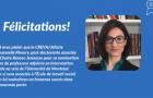 Nomination d'Emmanuelle Khoury à titre de professeur adjointe au sein de l'Université de Montréal